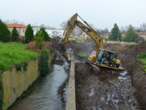 Dewatering of the Granja stream_source Águas do Porto Porto Water Company
